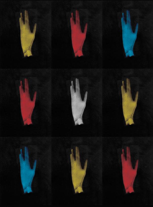 Hand in Vulcan Gesture