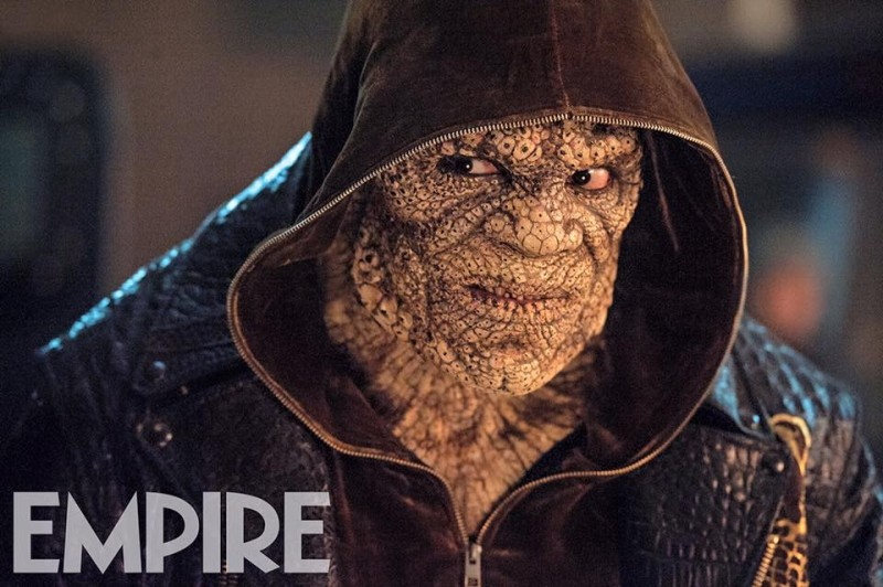 Close-up on Killer Croc.