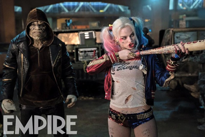 Waylon Jones aka Killer Croc (Adewale Akinnouye-Agbaje) and Harley Quinn (Margot Robbie)