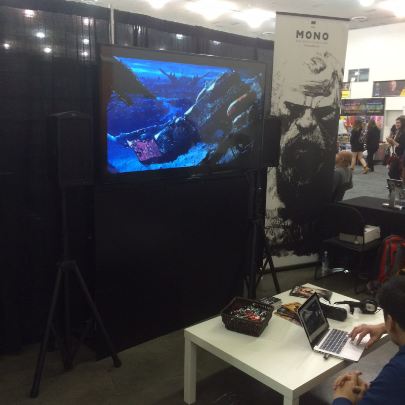 Check out Madefire at Booth 1401/1500. I've been a proponent of their motion graphics for years, and they're about to break out onto Apple TV and other platforms, as well as moving into Barco Escape for cinemas and... virtual reality...