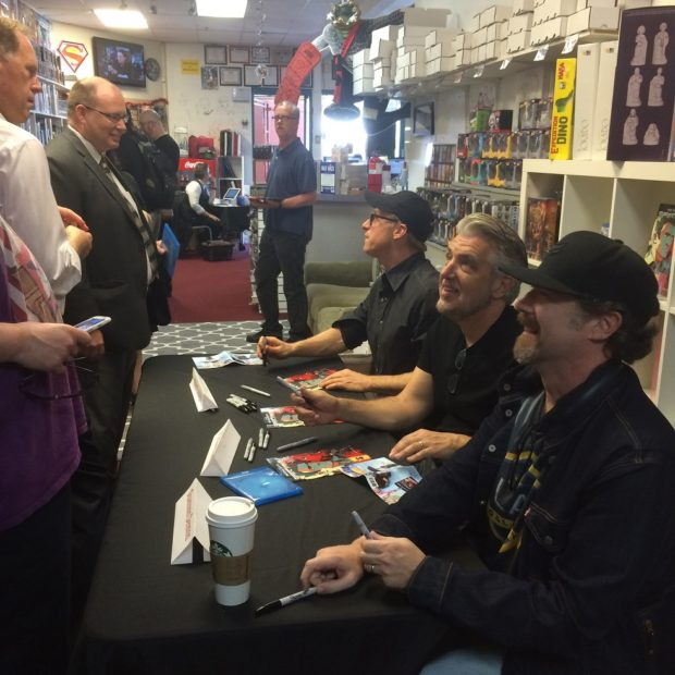 Alan Tudyk, PJ Haarsma, and Shannon Eric Denton signing for appreciative fans