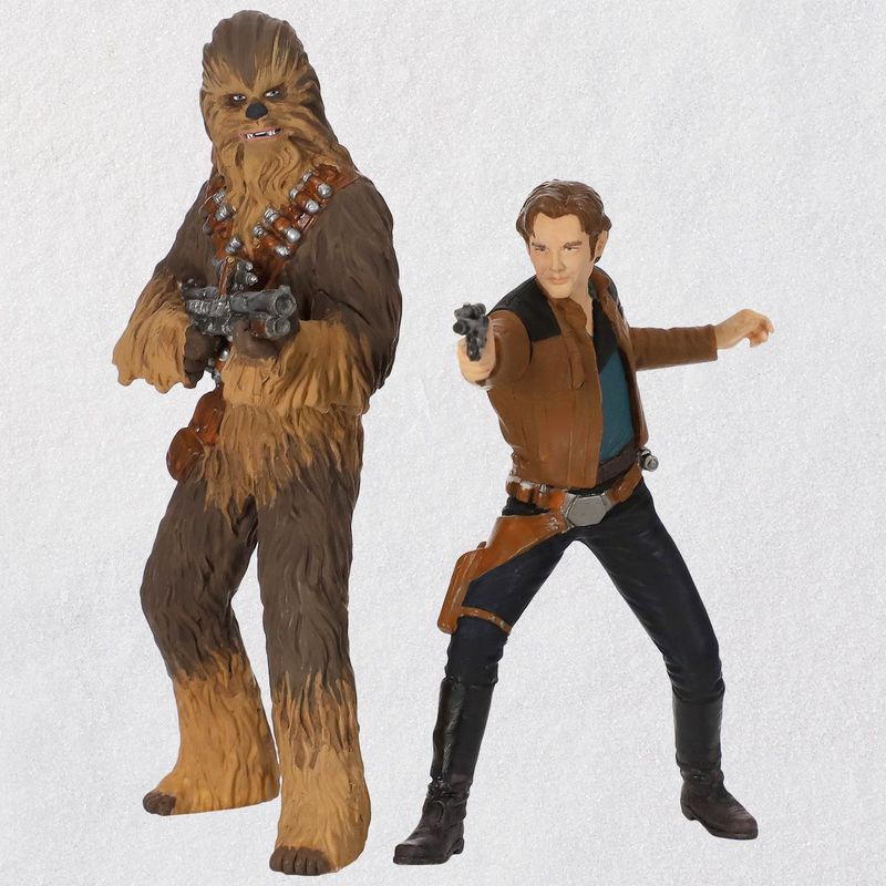 Solo-A-Star-Wars-Story-Han-Solo-and-Chewbacca-Ornaments-Set-of-2