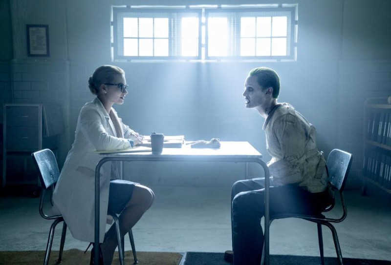 Harleen Quinzel (Margot Robbie) faces off against The Joker (Jared Leto). So we can safely say a chunk of this film will flashback to her origin.