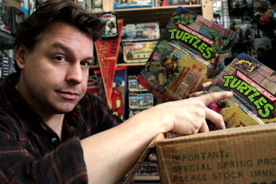 "Jordan unpacks a box of the original ""Heroes on the Half Shell"" from Teenage Mutant Ninja Turtles."