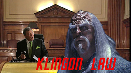 He's a Klingon Prosecutor, He's a Captain with a Gun, Together They Fight Crime!