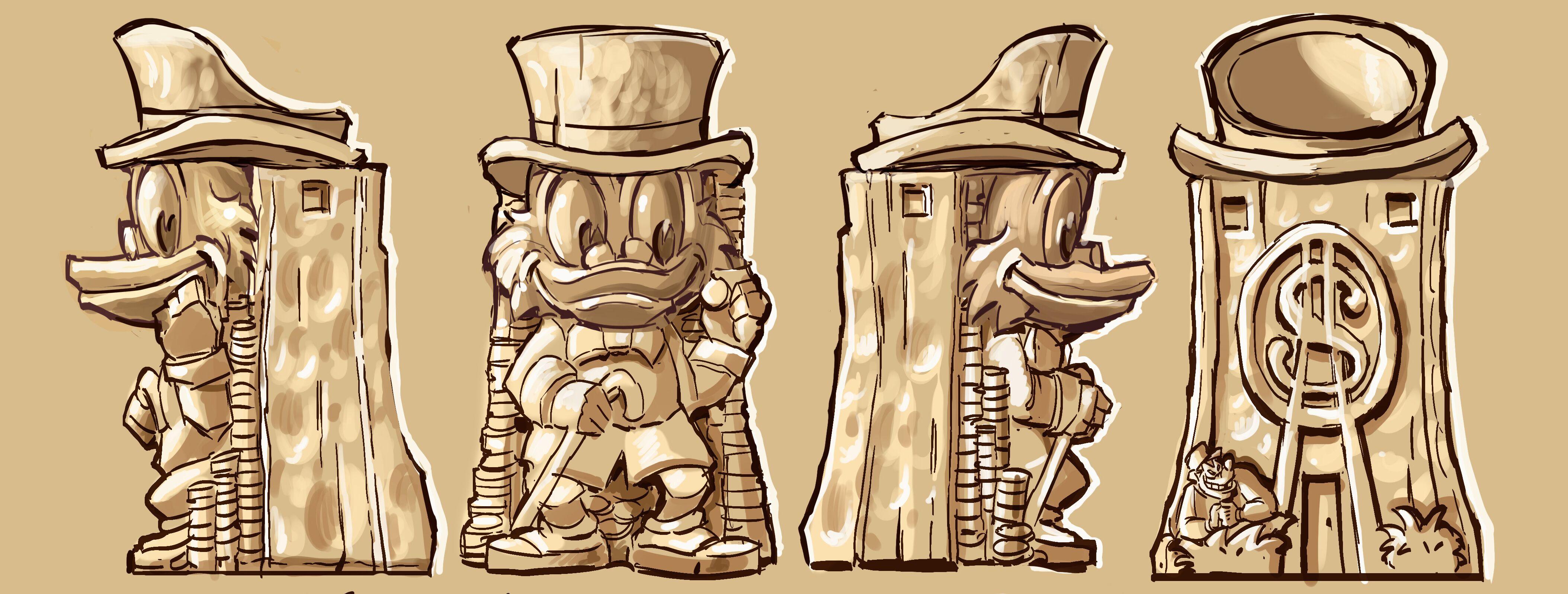 Mondo-Scrooge-McDuck-Tiki-Concept