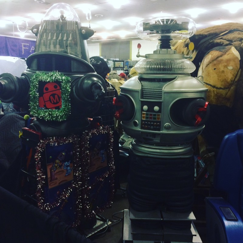 There's a Robot Family Reunion going on here...
