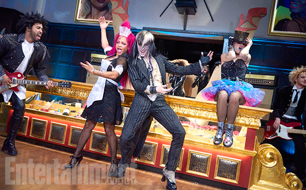 THE ROCKY HORROR PICTURE SHOW:   L-R:  Christina Milian, Reeve Carney and Annaleigh Ashford.