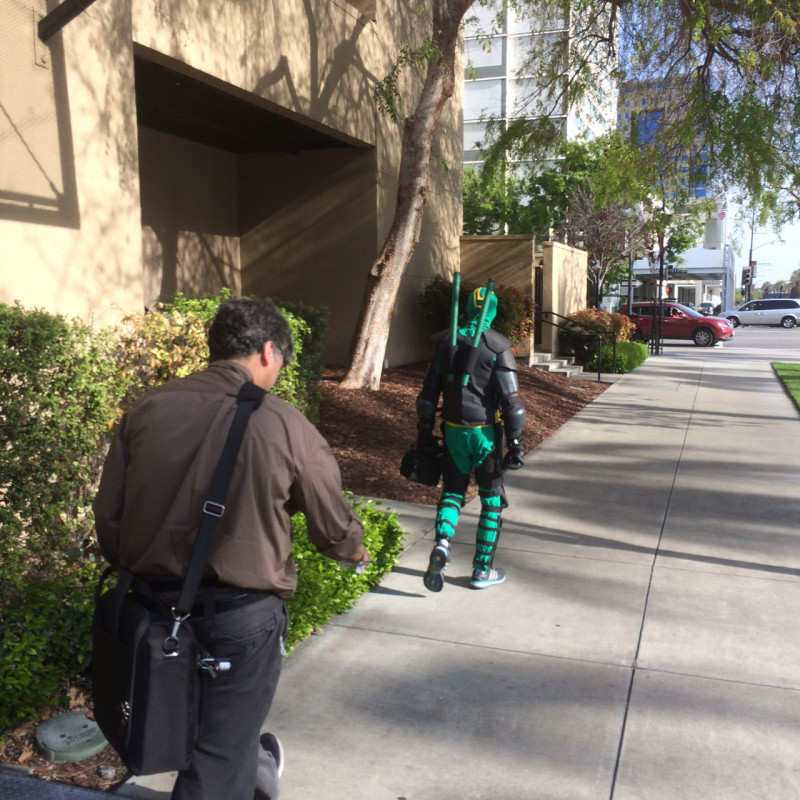 On the way over to the Convention Center. Either I was on the right path, or San Jose was about to get a vigilante...